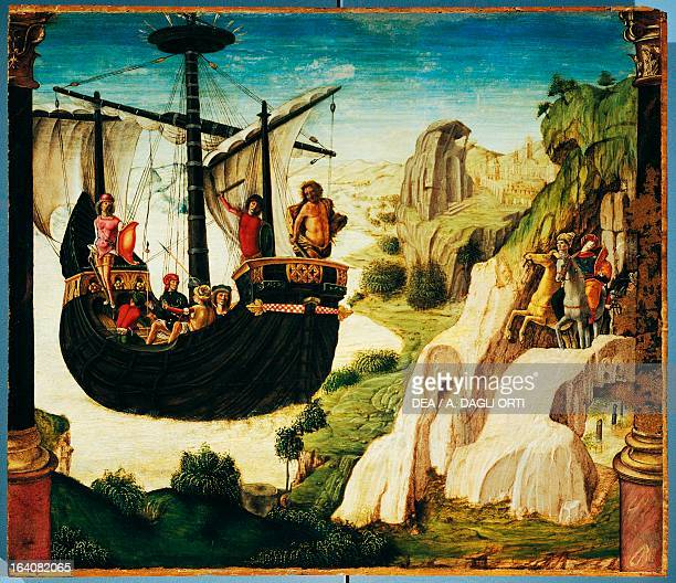 The expedition of the Argonauts 14841490 by Lorenzo Costa the Elder tempera on panel 46x53 cm Padova Musei Civici Eremitani