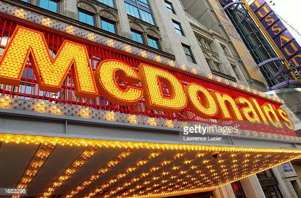 The exterior a McDonald's restaurant is shown November 20 2002 in New York City