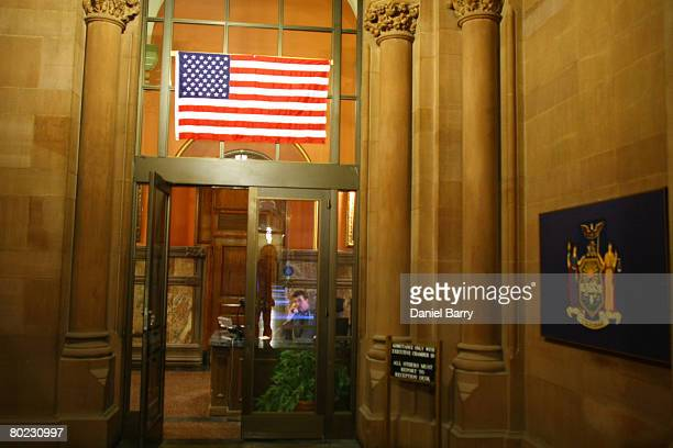 The exterior leading into the Governor's office in the State Capitol is seen in Albany New York March 13 2008 David Paterson will become New York's...