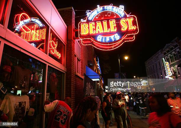The exterior of a gift shop on Beale Street August 13 2005 in Memphis Tennessee Beale St is the entertainment hub of Memphis