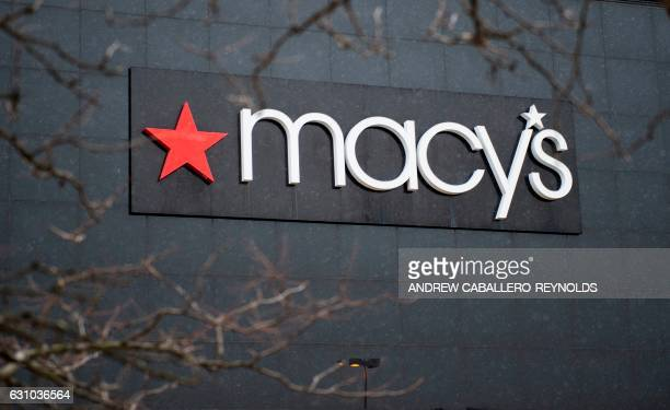 The exterior of a Macy's department store is seen at the Landmark Mall on January 5 in Arlington Virginia Investors hammered retailers early January...
