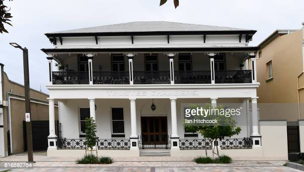 The exterior of a preserved old style building is seen on July 09 2017 in Rockhampton Australia