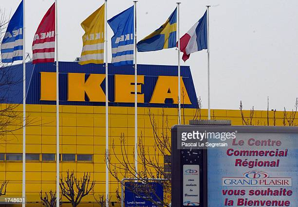 The exterior of an IKEA store is shown January 13 2003 in Plaisir Paris
