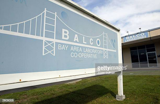 The exterior of Bay Area Laboratory CoOperative is seen October 17 2003 in Burlingame California BALCO laboratory already the subject of a federal...
