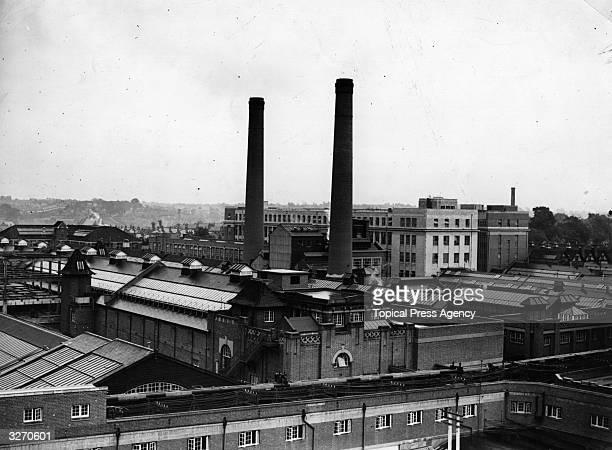 The exterior of Cadbury's factory at Birmingham