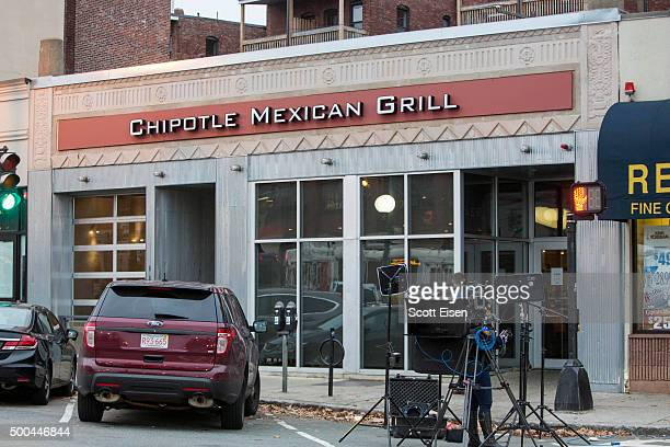 The exterior of Chipotle Mexican Grill seen at 1924 Beacon St on December 8 2015 in Boston Massachusetts According to Boston College spokesman 80...