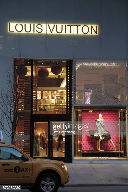 The exterior of Louis Vuitton Malletier on Fifth Avenue
