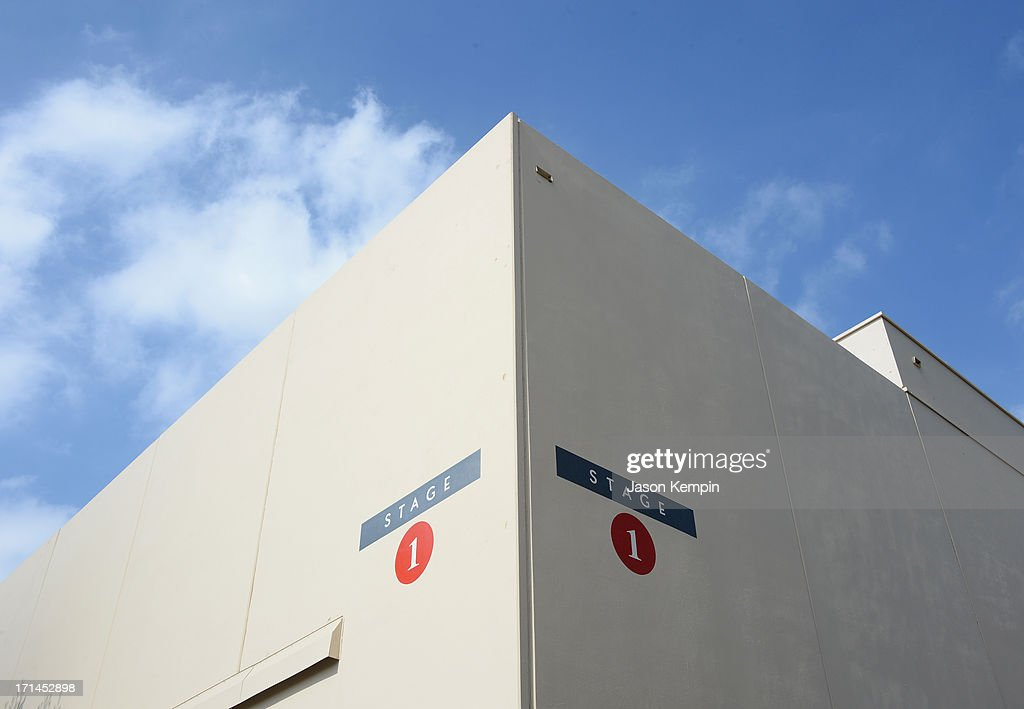 The exterior of Stage 1 is seen during a special stage rededication ceremony for Annette Funicello hosted by The Walt Disney Company at Walt Disney Studios on June 24, 2013 in Burbank, California.