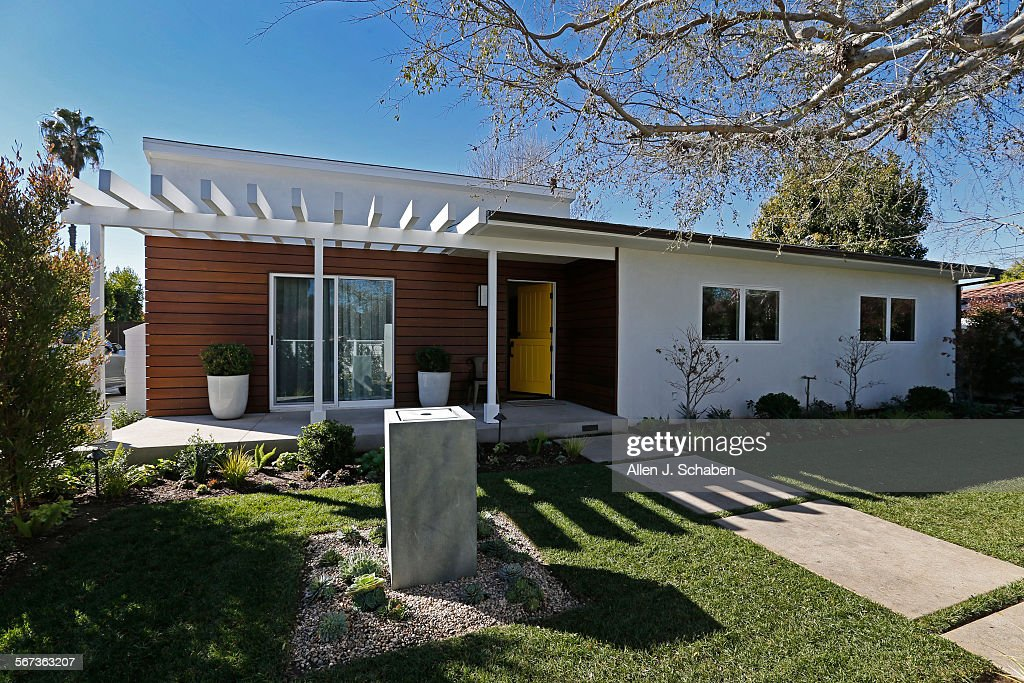 Stucco Exterior Ranch costa mesa, ca january 15, 2015: the exterior of the 1950 house