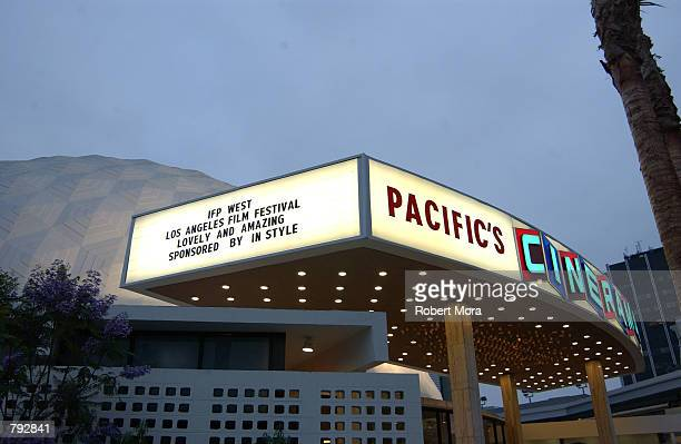 The exterior of the Arclight Cinerama Dome is seen prior to the 2002 IFP/West Los Angeles Film Festival Opening Night Gala on June 20 2002 in...