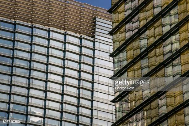 The exterior of the Aria Hotel Casino part of the CityCenter complex is viewed on May 31 2017 in Las Vegas Nevada Tourism in America's 'Sin City' has...