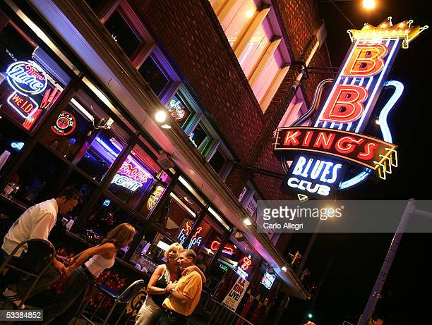 The exterior of the BB King's Blues Club is seen on Beale Street August 13 2005 in Memphis Tennessee Beale St is the entertainment hub of Memphis