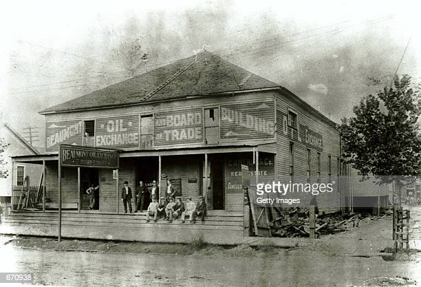 The exterior of the Beaumont Oil Exchange Board of Trade in Beaumont Texas the site of the first oil gusher January 10 1901 Beaumont in the southeast...