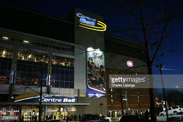 The exterior of the Bell Centre is seen as the Montreal Canadiens take on the Philadelphia Flyers at the Bell Centre on December 21 2006 in Montreal...