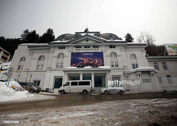 The exterior of the Belvedere hotel is seen in Davos Switzerland on Monday January 21 2013 This week the business elite gathers in the Swiss Alps for...