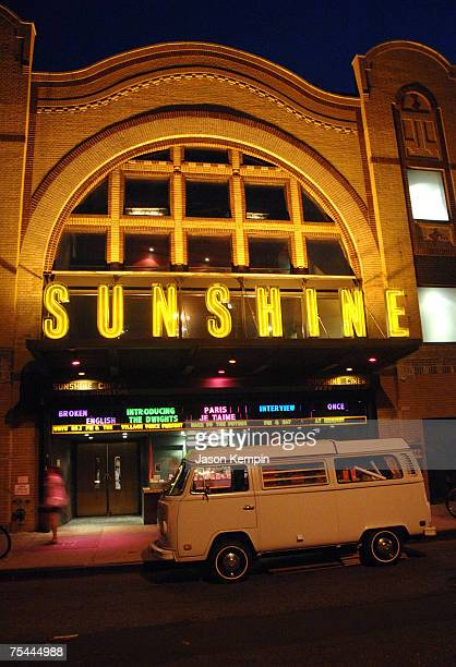 The Exterior of the Landmark Sunshine Theater during the screening of VH1's 'NY77 The Coolest Year In Hell' in New York City on July 16 2007