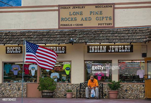 The exterior of the Lone Pine Rock and Gift shop is viewed on July 21 in Lone Pine California The arid Owens Valley located in a rain shadow between...