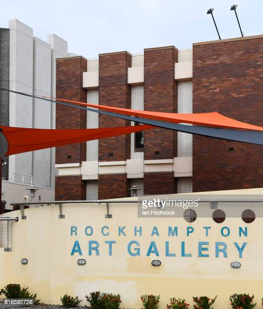 The exterior of the Rockhampton art gallery is seen on July 09 2017 in Rockhampton Australia