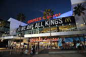 The exterior of the STAPLES center before a game between the Los Angeles Kings and the Dallas Stars at STAPLES Center on November 13 2014 in Los...