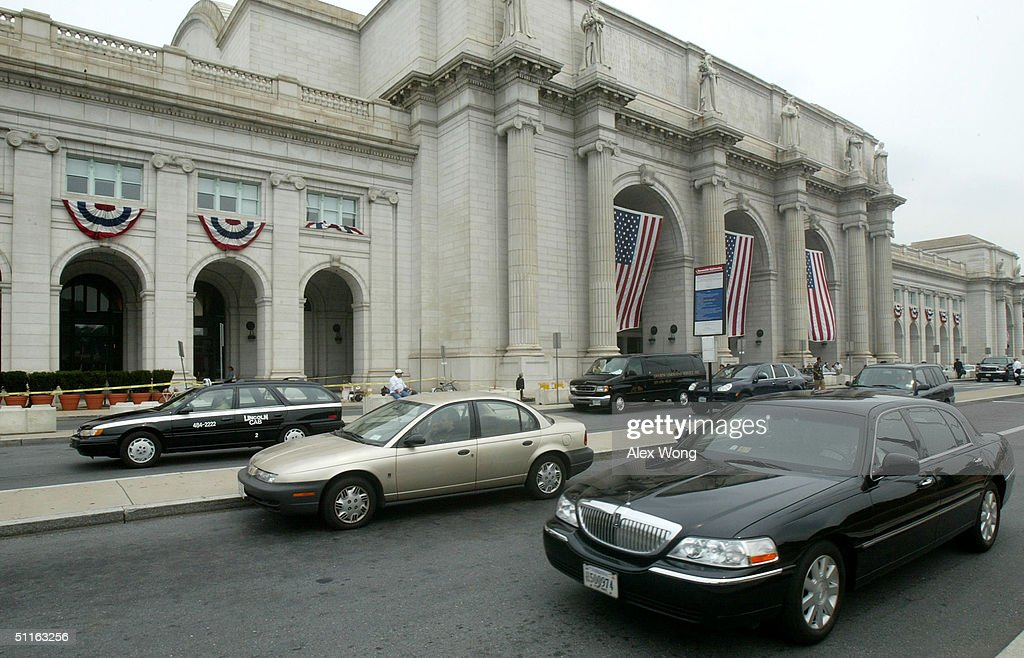 The exterior of the Union Station is seen August 12 2004 in Washington DC First opened in 1907 the station was once the world largest train station...