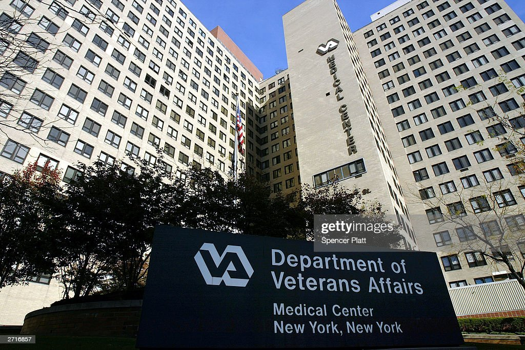 The exterior of the Veterans Affairs Hospital is seen November 10 2003 in New York City New York Senator Hillary Rodham Clinton has led the fight to...