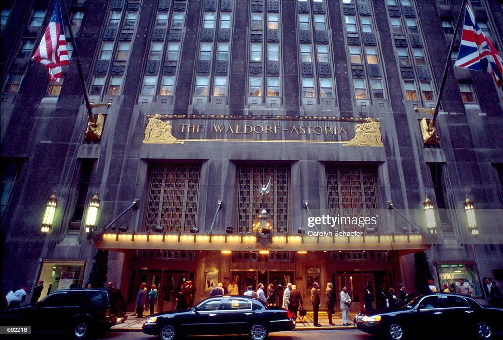 The exterior of The Waldorf Astoria Hotel faces Park Avenue September 25 2000 in New York City