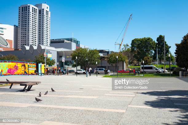 The exterior of the Yerba Buena Center for the Arts as seen from a plaza across the street San Francisco California September 4 2016