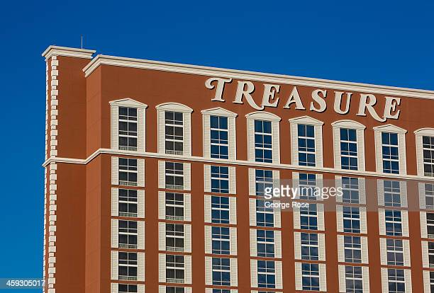 The exterior of Treasure Island Hotel Casino is viewed on December 14 2013 in Las Vegas Nevada Tourism in America's 'Sin City' is slowly making a...
