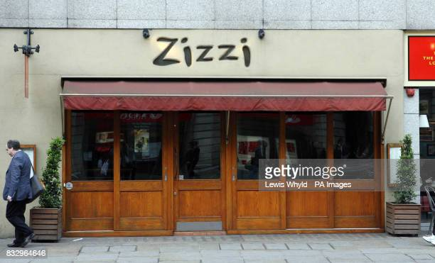 The exterior of Zizzi in The Strand central London where a man chopped off his penis in front of horrified diners