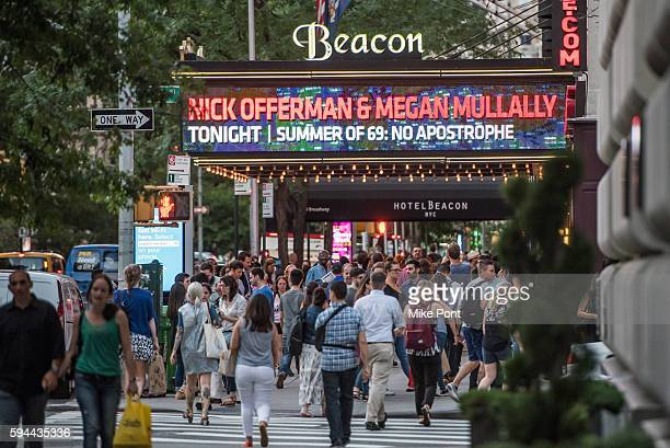 The exterior view of Beacon Theatre on August 23 2016 in New York City