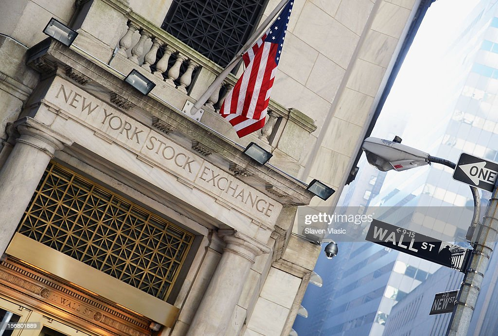 The exterior view of New York Stock Exchange building on November 21, 2012 in New York City.