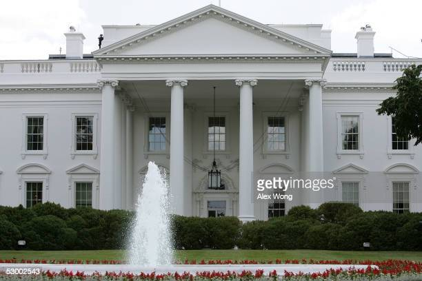 The exterior view of the north side of the White House is seen May 31 2005 in Washington DC Vanity Fair Magazine reported that former FBI official W...