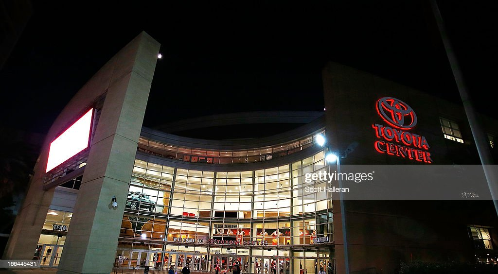 The exterior view of the Toyota Center is shown during the game between the Houston Rockets and the Memphis Grizzlies at the Toyota Center on April 12, 2013 in Houston, Texas.