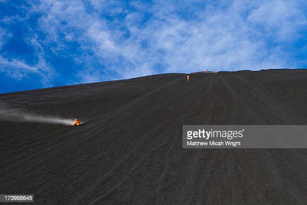 The extreme sport of Volcano Boarding.