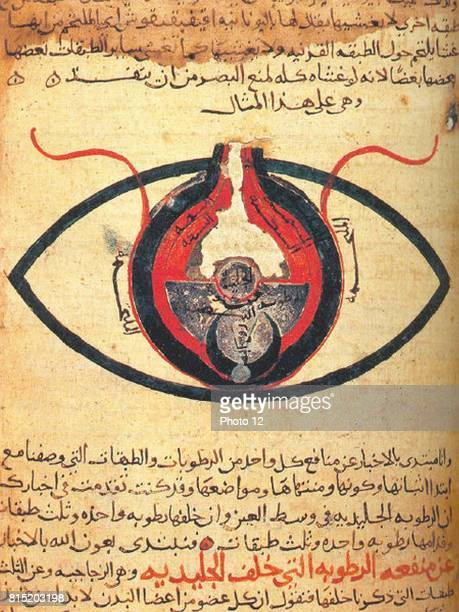 The eye according to Hunain ibn Ishaq also called Johannitius Baghdad physican and philosopher Manuscript c1200