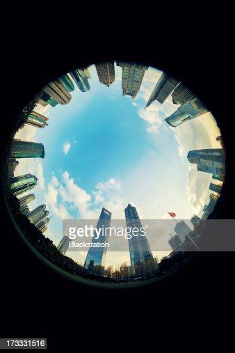 the eye of the Lujiazui CBD