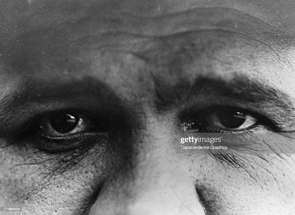 The eyes of <a gi-track='captionPersonalityLinkClicked' href=/galleries/search?phrase=Babe+Ruth&family=editorial&specificpeople=94423 ng-click='$event.stopPropagation()'>Babe Ruth</a>, New York Yankees outfielder, are presented in a photograph taken during the 1927 season.