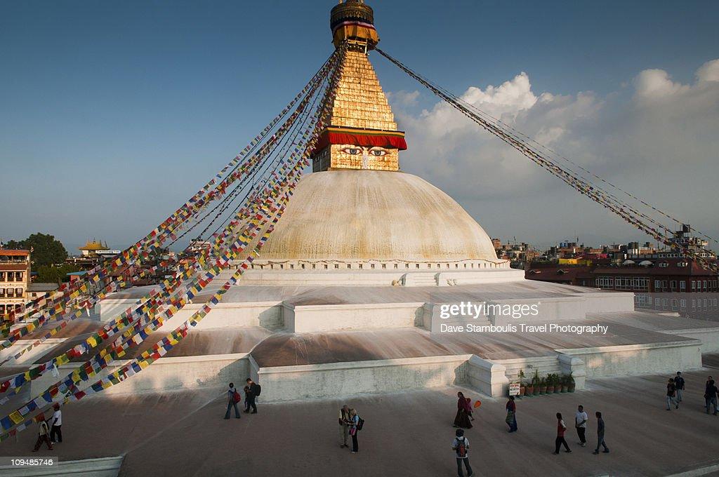 The eyes of Nepal, the Tibetan Buddhist stupa of B
