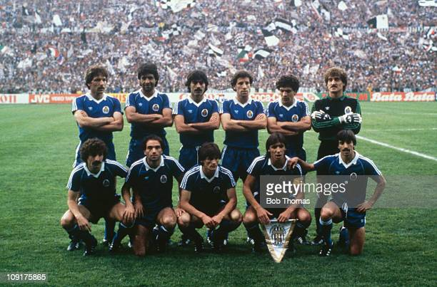 The F C Porto team pose at the St Jakob Stadium in Basel Switzerland prior to the European Cup Winners Cup Final against Juventus 16th May 1984 Back...