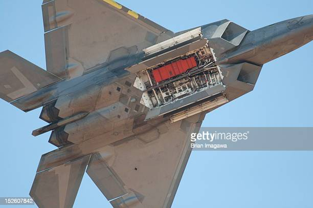 The F22 Raptor with open weapons payload dores