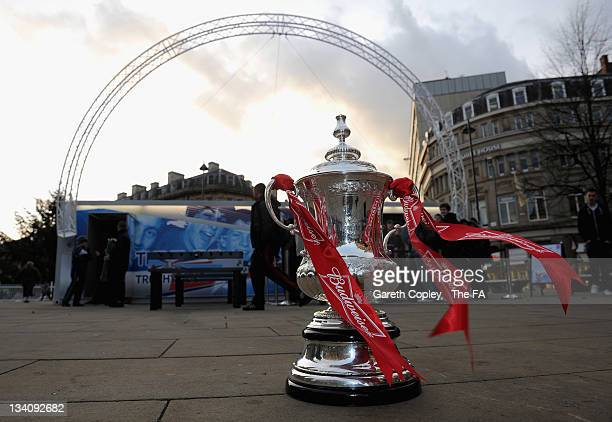The FA Cup trophy pictured during the FA Cup Trophy Tour on November 25 2011 in Sheffield England
