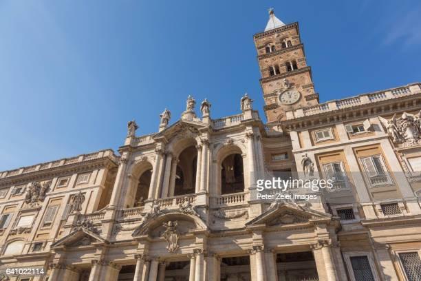 The facade of Basilica di Santa Maria Maggiore in Rome, Italy