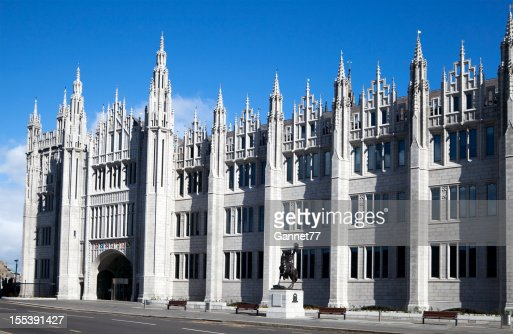 The Facade of Marischal College Building, Aberdeen