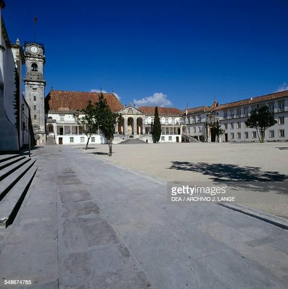 The facade of the Law faculty university building or Paco das Escolas Coimbra Centro Portugal 18th century