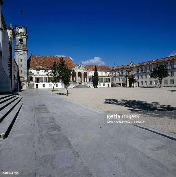 The facade of the Law faculty university building or Paco das Escolas Coimbra Centro Portugal 18th century