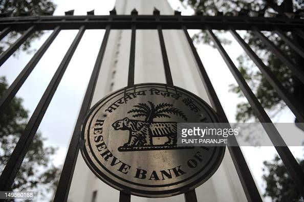 The facade of the Reserve Bank of India head office is pictured in Mumbai on July 31 2012 India's central bank kept its key interest rates unchanged...