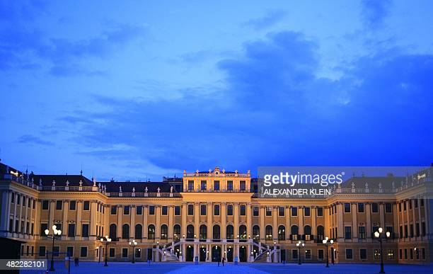 The facade of the Schoenbrunn Palace is seen in Vienna on March 27 2014 AFP PHOTO / ALEXANDER KLEIN