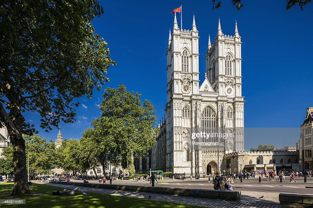 The facade of Westminster Abbey