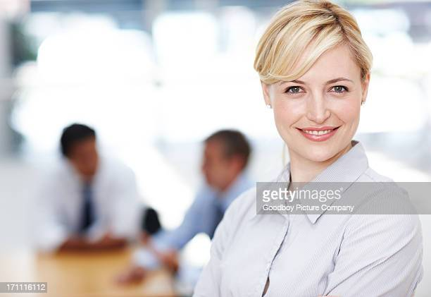 The face of elegant corporate confidence
