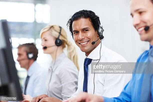 The face of friendly assistance